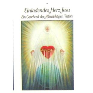 """Gebetsbild """"Jesu Einladendes Herz"""" (beschichtetes Papier)"""