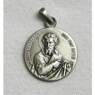 St. Judas-Thaddäus-/Hl. Josef-Medaille, Silber 925 oxidiert