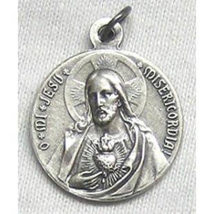 Skapuliermedaille Silber 925, oxidiert 19 mm