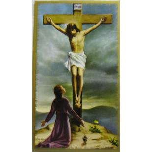 Heiligenbild Johannes vor dem Kreuz