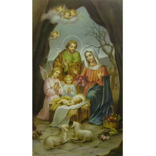 heiligenbild hl familie mit engeln und schafen willkommen im shop 0 40 eur. Black Bedroom Furniture Sets. Home Design Ideas