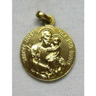 St. Judas-Thaddäus-/Hl. Josef-Medaille, Silber 925 vergoldet