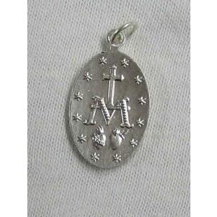 Wundertätige Medaille, Neusilber, weiß gebürstet, 20 mm