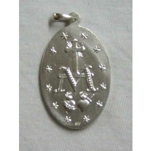 Wundertätige Medaille, Silber 925, 35 mm