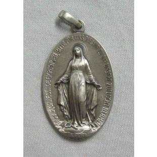 Wundertätige Medaille, Silber 925 oxidiert, 35 mm