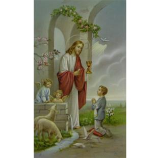 Heiligenbild Kommunion Junge