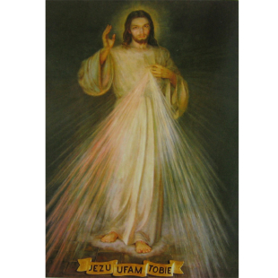 "Postkarte Barmherziger Jesus ""Jezu Ufam Tobie"""