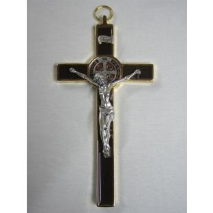 Benediktuskreuz 20 cm (braun/gold/bunt)