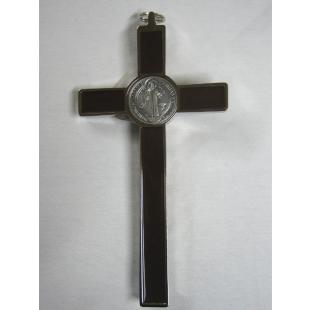 Benediktuskreuz 20 cm (braun/silber/silber)