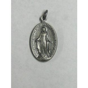 Wundertätige Medaille, Neusilber, oxidiert, 20 mm