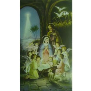 Heiligenbild Heilige Familie mit Engeln