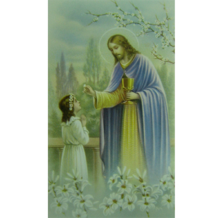 Heiligenbild Kommunion Mädchen