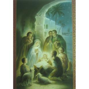 postkarte heilige familie mit engeln und schafen willkommen im shop 1 49 eur. Black Bedroom Furniture Sets. Home Design Ideas