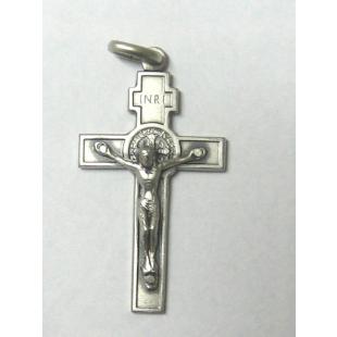 Benediktuskreuz Echt Silber oxidiert 4 cm