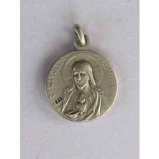 Skapuliermedaille Silber 925 oxidiert, 16 mm