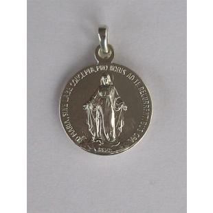 Hl. Michael/Unbefleckte, Silber 925, 19 mm