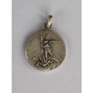 Hl. Michael/Unbefleckte, Silber 925 oxidiert, 19 mm