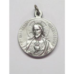 Medaille Maria Goretti Neusilber oxidiert 22 mm