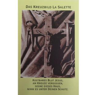 """Gebetsbild """"Das Kreuzbild La Salette"""""""